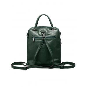PU Leather Zippers Chains Backpack -