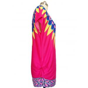 Multicolor Print Loose-Fitting T-Shirt -