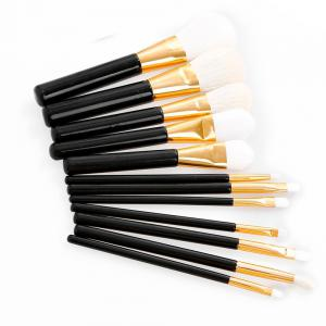 12 Pcs Goat Hair Face Eye Lip Makeup Brush Set -