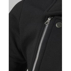 Turn-Down Collar Side Zipper-Up Coat -