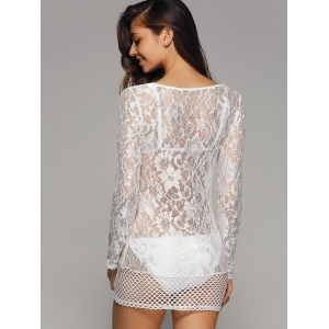 Crochet Lace Hollow Out Cover-Ups Bathing Suits -