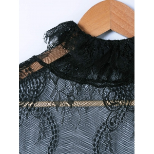 Lace See-Through Blouse -