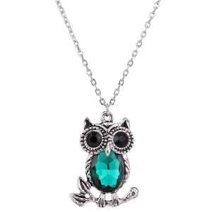Owl Rhinestone Sweater Chain -
