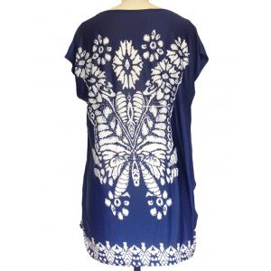 Abstract Butterfly Print Loose-Fitting T-Shirt -