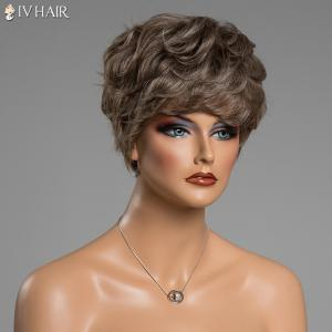 Various Color Short Siv Hair Capless Fluffy Curly Real Human Hair Wig -