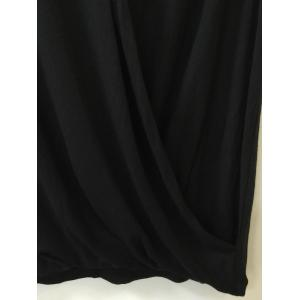 Ruched Surplice Solid Color Tank Top -