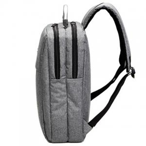 Double Zipper Canvas Metal Backpack -