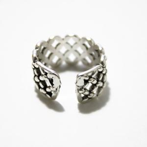 Vintage Floral Hollow Out Cuff Ring -