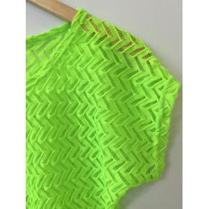 Batwing Sleeve Hollow Out Crochet Cover-Up -