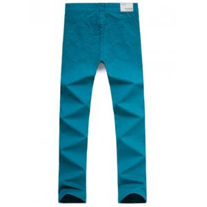 Casual Style Zipper Fly Straight Leg Chino Pants -
