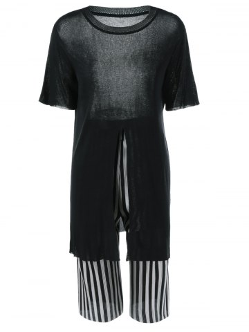Store Furcal Knit Top and Striped Pants