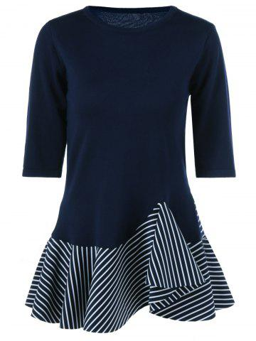 Outfit Splicing Striped Mermaid Dress