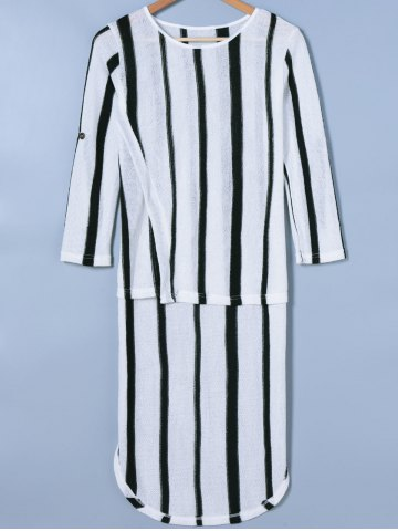 Discount Knit Striped Dress