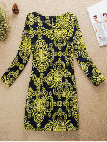 Outfit Printed Jewel Neck Dress COLORMIX 3XL