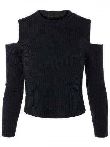 Trendy Cold Shoulder Long Sleeve Sweater
