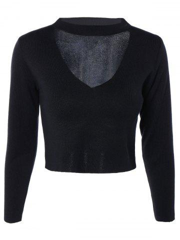 Shops Cut Out Long Sleeve Sweater