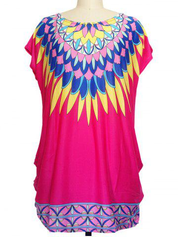 Sale Multicolor Print Loose-Fitting T-Shirt