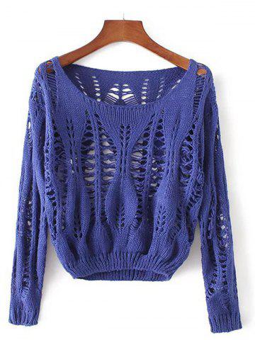 Fashion Openwork Long Sleeves Pullover Knitwear