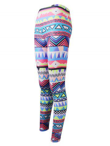 Fashion Geometric Colorful Print Christmas Leggings - 2XL COLORFUL Mobile