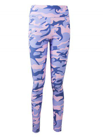 Shops Active Camo Colorful Print Leggings - 2XL LIGHT PURPLE Mobile