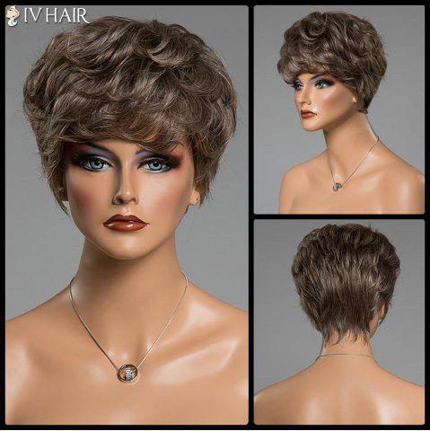 Best Various Color Short Siv Hair Capless Fluffy Curly Real Human Hair Wig