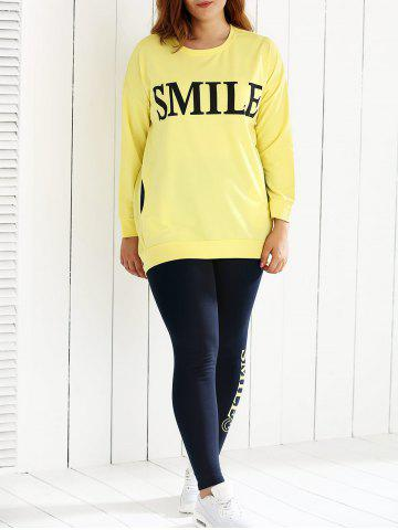 Outfit Oversized Loose Fitting Sweatshirt and Letter Print Leggings