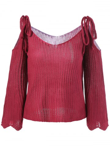 Hot V Neck Cut Out Knitwear