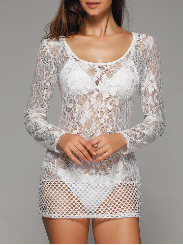 Affordable Crochet Lace Hollow Out Cover-Ups Bathing Suits