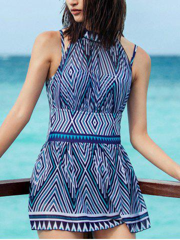 Affordable Backless Print One-Piece Swimwear