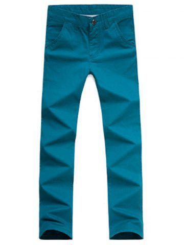 Unique Casual Style Zipper Fly Straight Leg Chino Pants