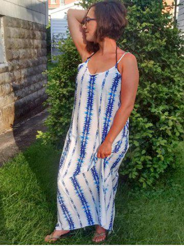 Latest Spaghetti Strap Tie Dyed Maxi Dress