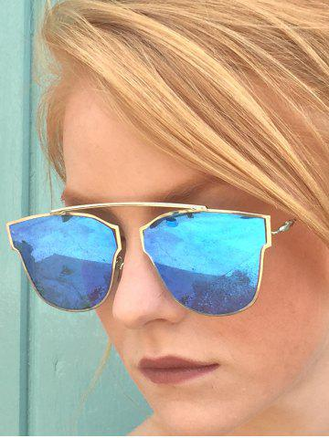 Hot Chic Hollow Out Silver Metal Frame Mirror Sunglasses