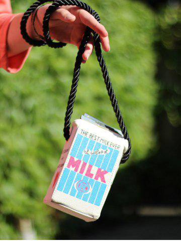 Best Milk Box Shape and Canvas Design Crossbody Bag
