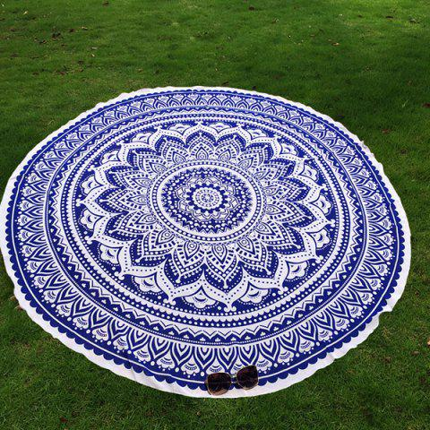 Hot Mandala Lotus Flower Chiffon Round Beach Throw
