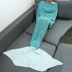 High Quality Knitted Warmth Comfortable Mermaid Tail Blanket -