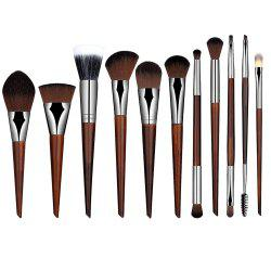 12 Pcs Nylon Face Eye Lip Makeup Brushes Set