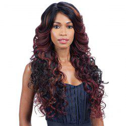 Côté long Parting Wavy multi perruque synthétique - Multicolore