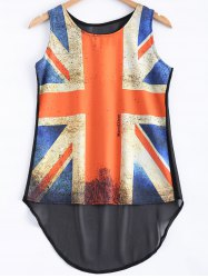 Flag Pattern See-Through Tank Top