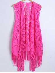 Crochet Fringe Lace Long Cover Up