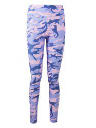 Active Camo Colorful Print Leggings -