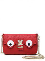 Color Splicing Faux Pearl Magnetic Closure Crossbody Bag