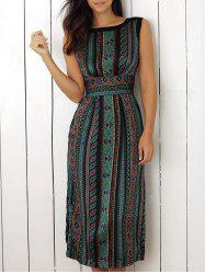 Sleeveless Print Dress -
