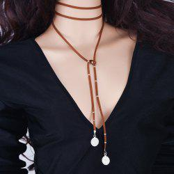 Coin Layered Bolo Necklace