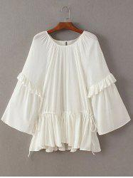 Flouncing Frilled Side Strappy Blouse -