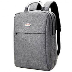Double Zipper Canvas Metal Backpack