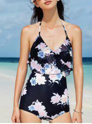 Halterneck Ruffle One-Piece Swimwear