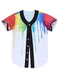 3D Colorful Splatter Paint Shirt -