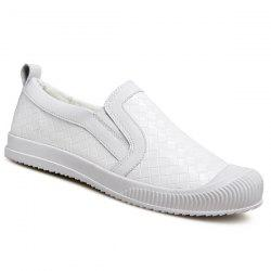 Stylish Lattice Pattern and Slip On Design Casual Shoes For Men -