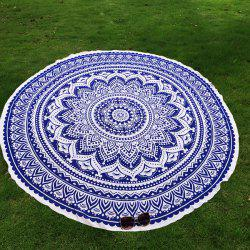 Mandala Lotus Flower Chiffon Round Beach Throw -