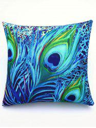Super Soft Colorful Feather Pattern Square Shape Pillowcase - COLORMIX